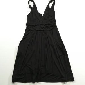 Dotti Black Knit Dress With Pockets Size Medium